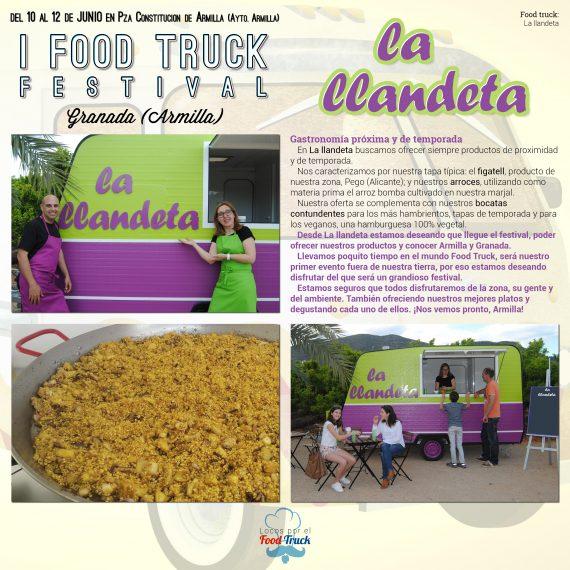 La llandeta en I Food Truck Festival de Granada