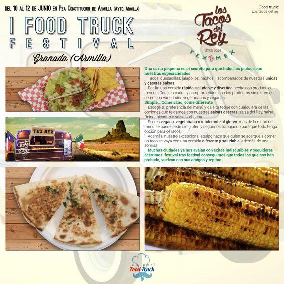 Los tacos del rey en I Food Truck Festival de Granada