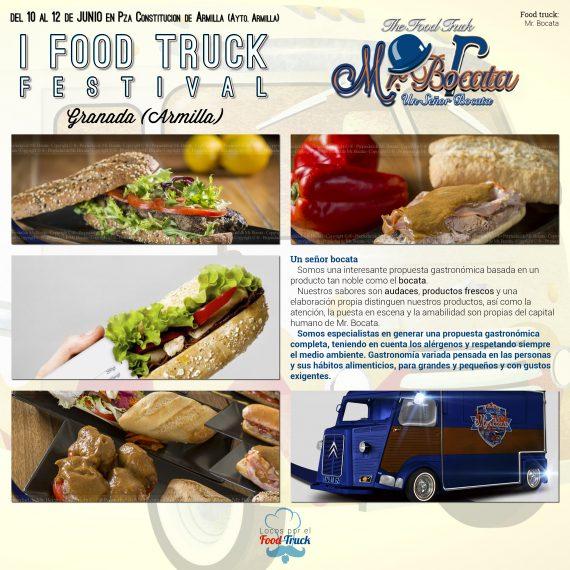 Mr. Bocata en I Food Truck Festival de Granada
